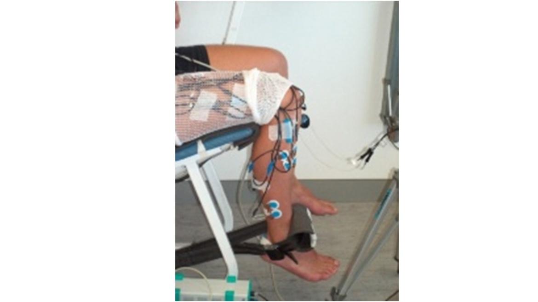 Messapparatur rechtes Bein